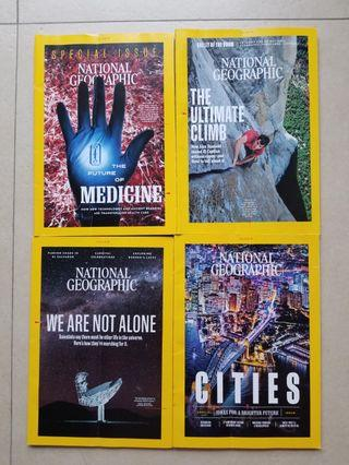 4 latest National Geographic @$50