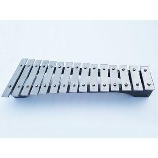 🚚 (Ready Stock)SN063 - 2 Octave Silver Tone Bars Xylophone (15 keys) - Musical Instrument Educational Toy