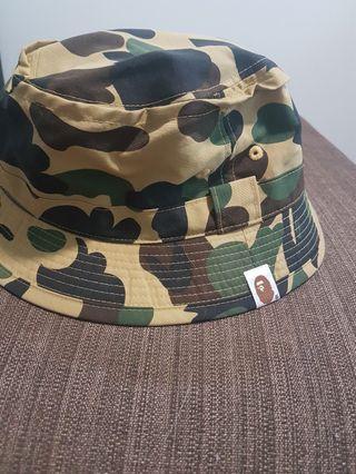 245cc4a30474d Bape Yellow Camo Jungle Hat size S M