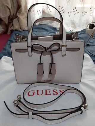 [REPRICE] Guess Bag White Soft Pink