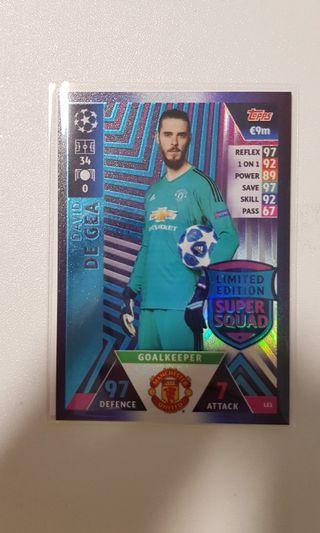 Match attax UCL 18/19 Limited Edition David de Gea