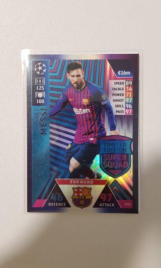 Match attax UCL 18/19 Limited Edition Lionel Messi