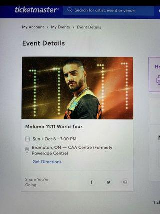 TWO FRONT SEAT MALUMA 11:11 TOUR
