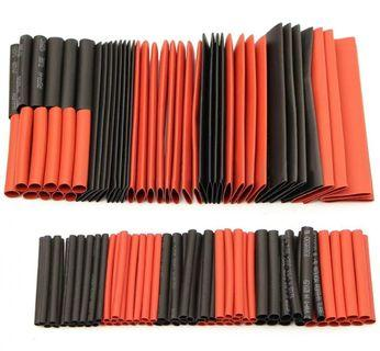 Red and Black heat shrink tubing sleeves