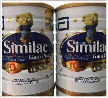 Similac Gain Plus 1-3years Per Tin 1.8kg
