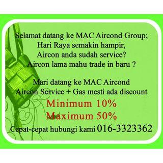 RAYA Offers Aircond Service Min 10% Max 50% KL & Selangor. Call Us Now 016-3323362