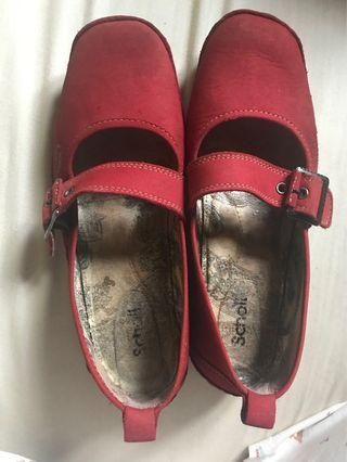 Scholl red shoes