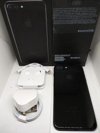 Apple iPhone 7+ Plus 128Gb Jet Black Mulus Fullset Surabaya