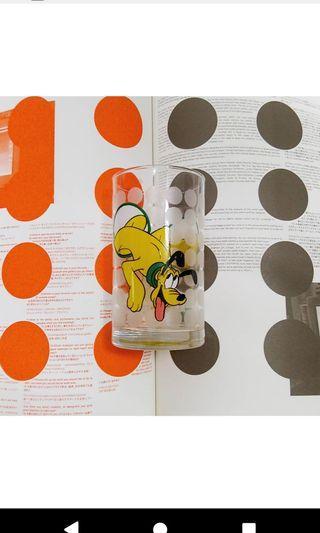 迪士尼玻璃杯 布魯托 杯子 收藏 老物