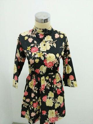 Dress mini bunga bunga/ Blouse
