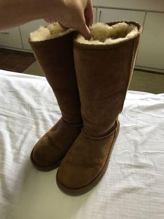 Authentic tall Ugg Boots - women's 6.5-7