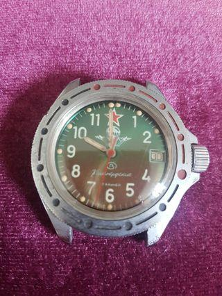 Original USSR Paratrooper Watch with date AUTHENTIC