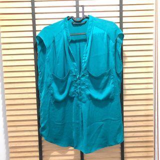 Zara relax top in turqoise
