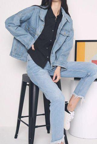 HOLLYHOQUE Racquel Oversized Denim Jacket #ENDGAMEyourEXCESS