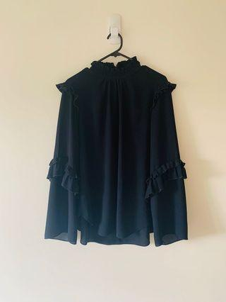 Witchery Navy Top Size 12