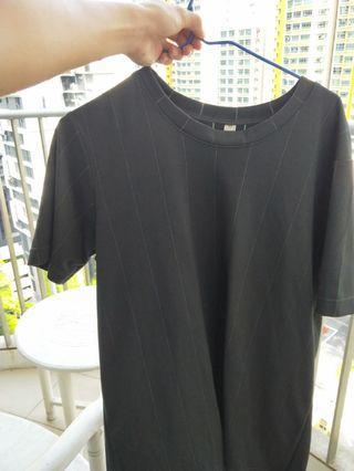 🚚 Black Striped Jersey Shirt