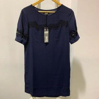 BNWT Izzue Navy Dress with lace detail
