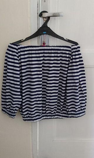 Stripes navy sabrina