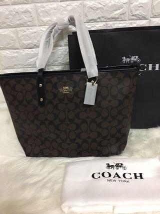 190c3a4f3ee Authentic coach city tote zip in signature canvas