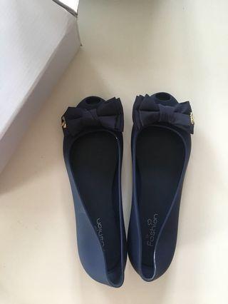 Ribbon Flat Jelly Shoes Size 40/25cm