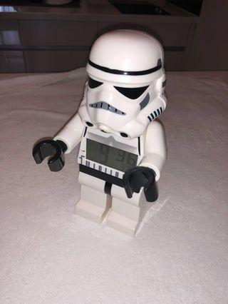 Lego stormtrooper Star Wars clock