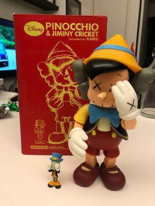 Disney Pinocchio 🤥 kaws companion jimmy cricket figurine 1:1