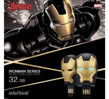 暗黑鋼鐵人限定版頭盔隨身碟-32G(已拆封,全新未使用過)