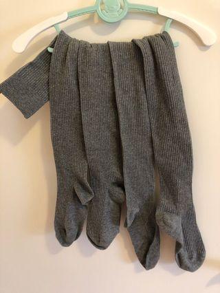 Grey long socks 坐月過膝長棉質𧙕 cosplay 滴雞精