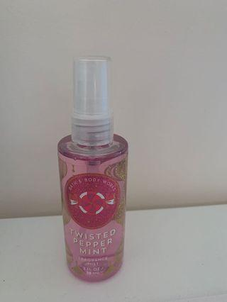 Twisted pepper mint fragrance mist, toasted s'mores anti-bacterial hand gel
