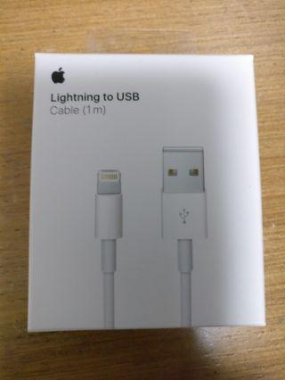 全新原廠正版 iPhone 充電線 lightning to usb 1m