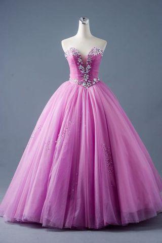 粉紫浪漫婚紗禮服(歡迎試穿)禮服九成新。