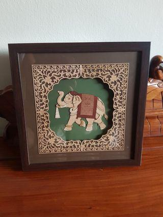 Picture Art Frame - Elephant