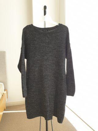 Grey long jumper/dress