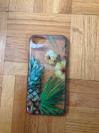iPhone 7 Clear Floral Case