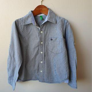 UNITED COLOURS OF BENETTON Boys Collared Shirt Sz XS fits 4 Years