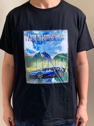 Original print cotton and polyester T-shirt (彈力T恤)