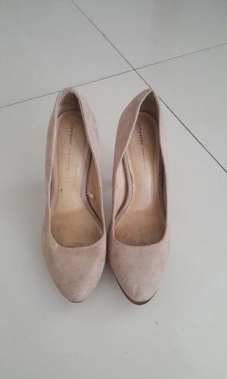 ZARA Suede Textured Heels