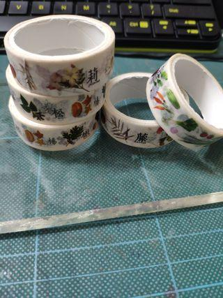 Washi tapes in a set - Floras