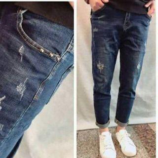 男友褲(有彈性,L)