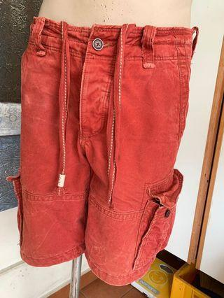 Authentic A&f Abercrombie Fitch 3/4 Cargo Shorts W33-5