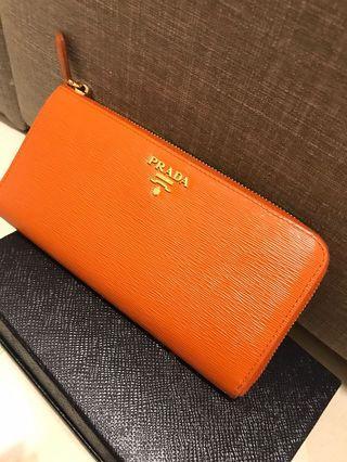 Prada Saffiano Zippy Wallet