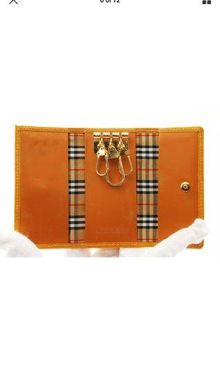 Burberry key case yellow authentic