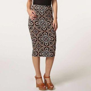 Dorothy Perkins Petite Tile Floral Pencil Skirt