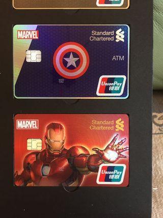 Marvel 限量版 信用卡  真信用卡 連架 紀念品 iron man limited edition credit card standard charter 渣打銀行