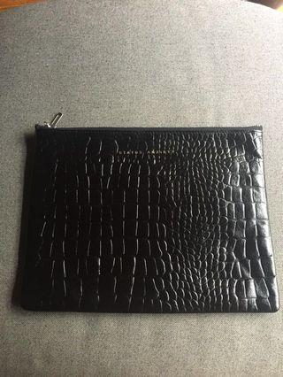Black Leather Clutch or pouch #EndgameYourExcess