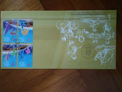香港2000年奧運紀念金封