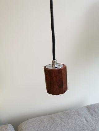 吊燈頭 日本家居 原木