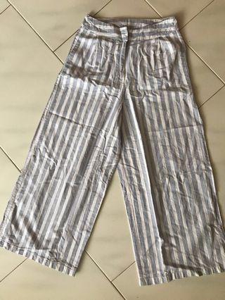 Blue stripe cullotes