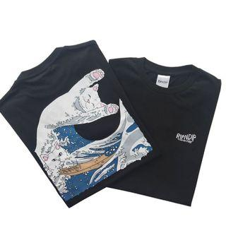 【HYPED.】Authentic Ripndip Great Wave Tee [IMPORTED FROM US]