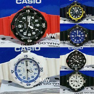 🚚 Casio original men analog resin sports watch mrw200h brand new